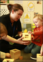 Staff at Over The Rainbow Nursery Ashton